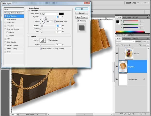 آموزش فتوشاپ (Photoshop) - جلسه 21 -انداختن تصویر در یک کاغذ قدیمی